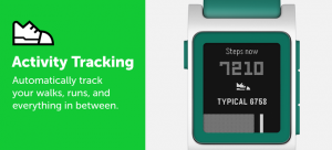 Pebble activity tracking