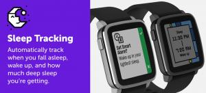 pebble sleep tracking